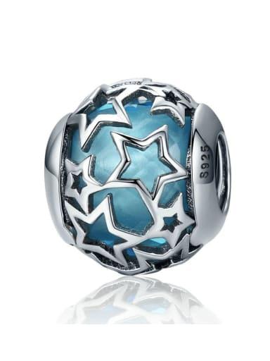 Sky blue 925 silver star charm