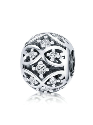 925 silver Cubic Zirconia charm