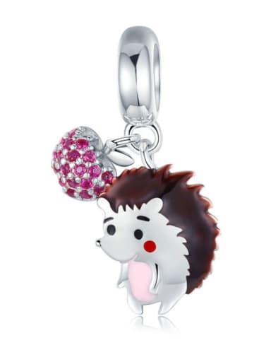 Pendant 925 silver cute hedgehog charm