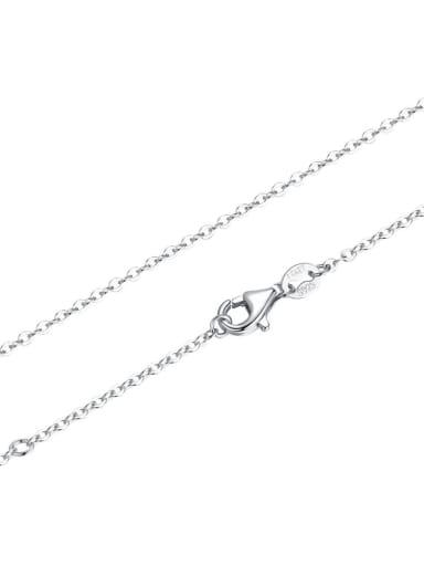 chain 925 silver cute bow charm