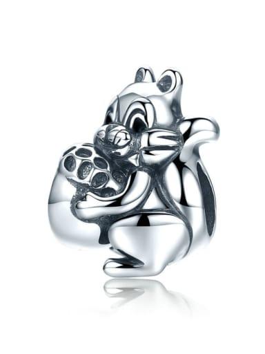 925 silver cute squirrel charm