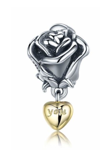 925 silver rose charm