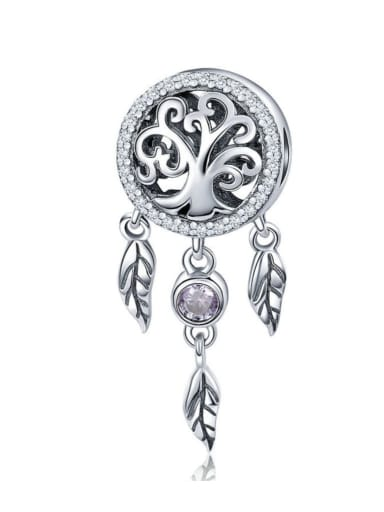 925 silver artificial zircon charm
