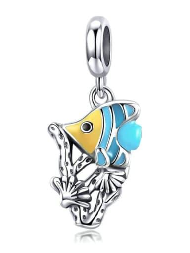 Pendant 925 silver cute fish charm