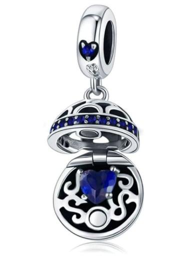 Blue 925 silver love charm