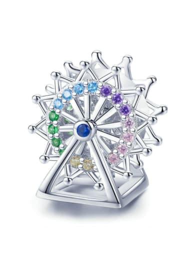 925 Silver Lucky Ferris Wheel charm