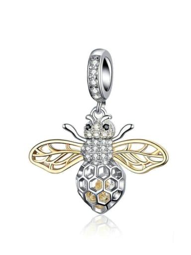 Pendant 925 silver cute bee charm