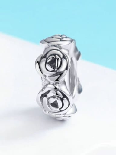 SCC596 925 Sterling Silver With Antique Silver Plated Charm