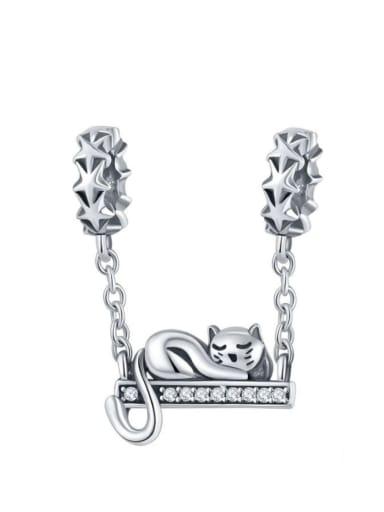 Pendant 925 silver cute cat charm
