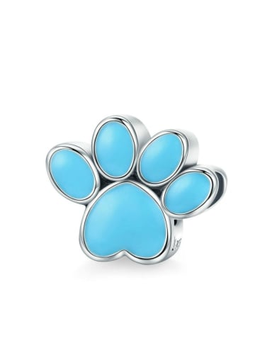 925 Silver Pet Paw Print charm