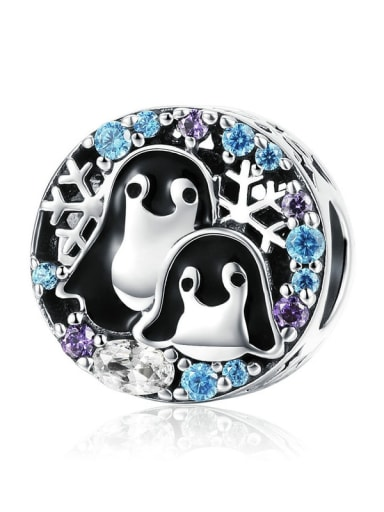 Penguin House 925 silver Marine life charm
