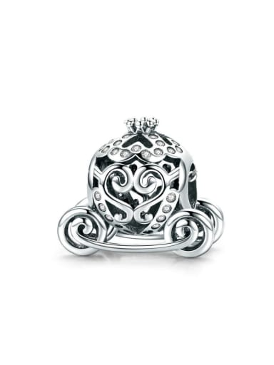 925 silver pumpkin car charm