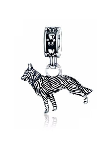 925 silver cute shepherd charm