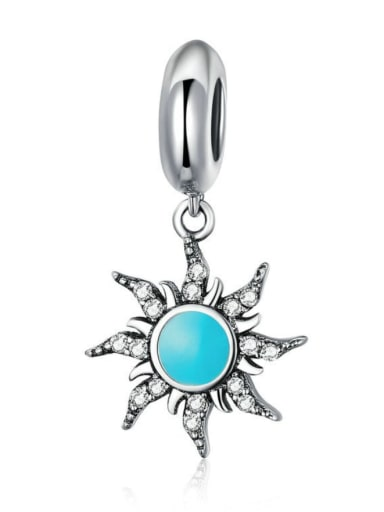 925 silver sun charm