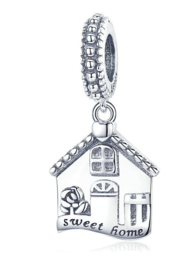 Pendant 925 silver cute house charm