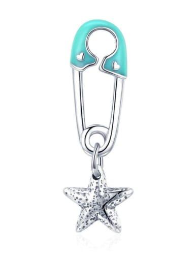 925 Silver Star Button charm