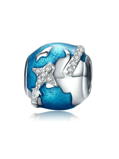 925 silver round the world charm