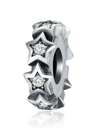 925 Sterling Silver With Antique Silver Plated Classic Star Charm