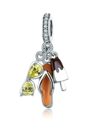 925 silver casual charm
