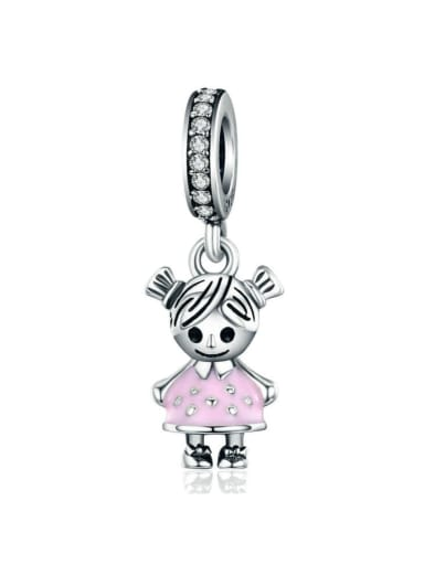 925 silver girl charm