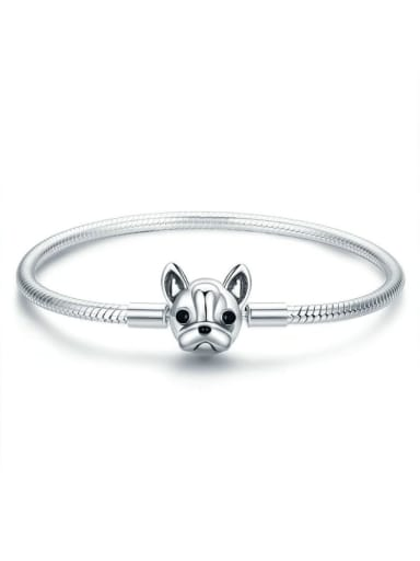 925 Silver Cute Dog Chain Bracelet
