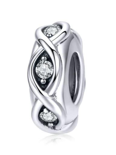 925 silver artificial zircon charm