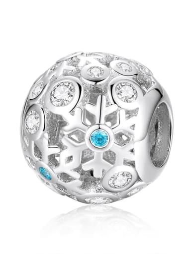 SCC988 925 silver cute snowflake charm