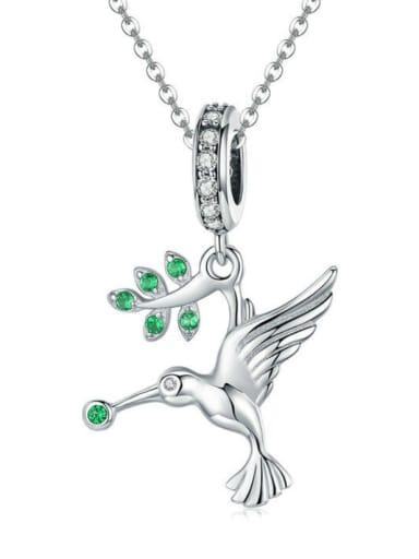 Pendant Chain 925 silver cute bird charm