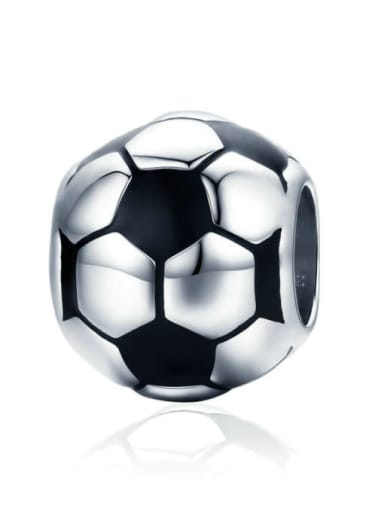 Football sentiment 925 silver various sports ball charm