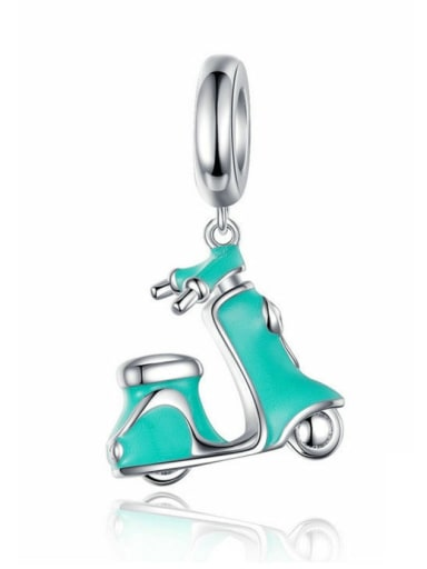 925 silver cute electric car charm
