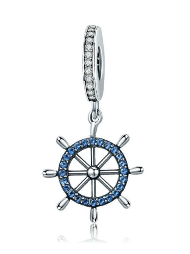 925 silver pirate ship rudder charm