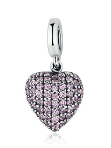 925 silver romantic heart charm