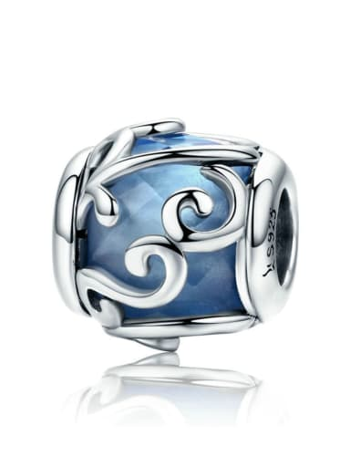 925 silver lucite charm