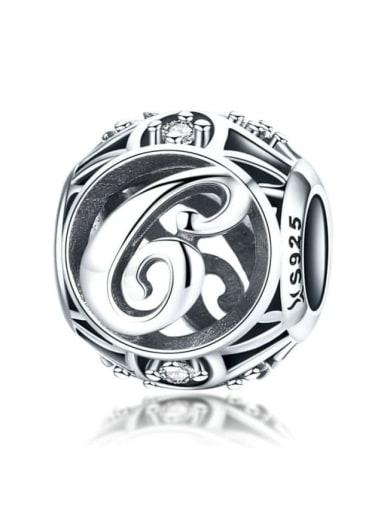 C 925 silver letter charm