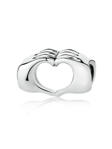 925 silver than heart charm
