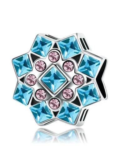 SCC969 925 silver cute snowflake charm
