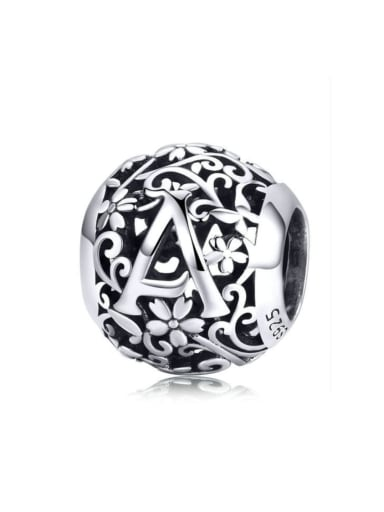 925 Sterling Silver With Antique Silver Plated Classic Charm Charm