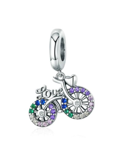 925 silver cute cycling charm