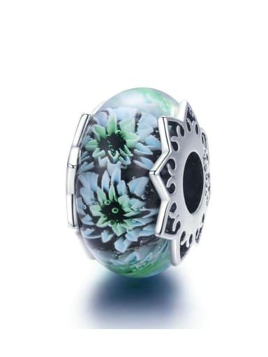 925 silver chrysanthemum charm