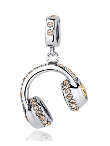 925 silver earphone charm