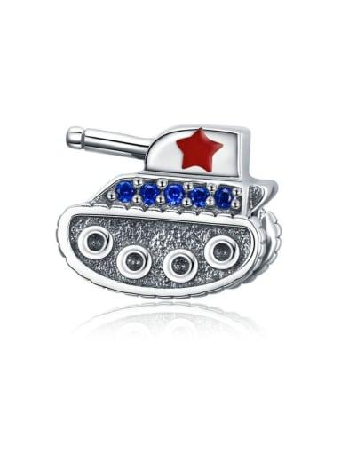 925 silver tank charm