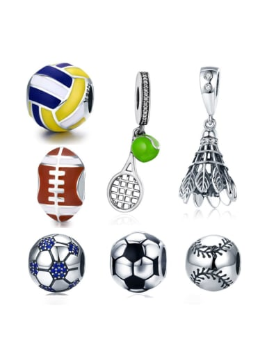 925 silver various sports ball element accessories