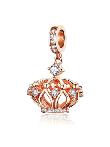 925 silver cute crown charm