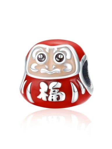 925 silver cute Dharma charm
