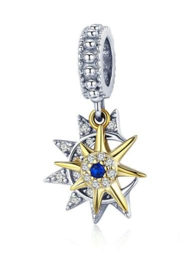 925 silver cute stars moon charm