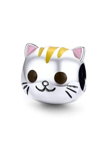 925 silver cute cat charm