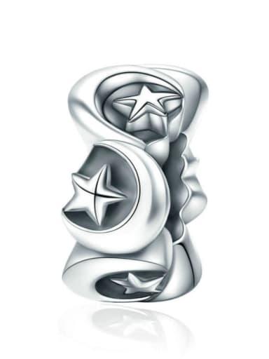 925 silver star moon charm