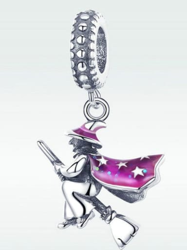 Pendant 925 Silver Witch charm