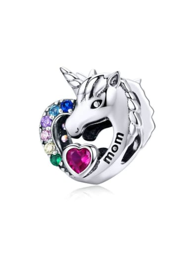925 Silver Romantic Unicorn charm