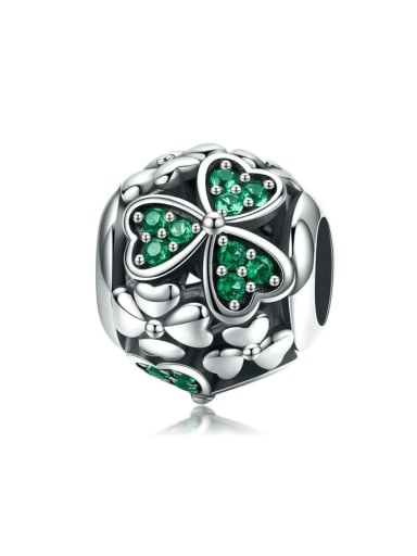 925 silver clover charm
